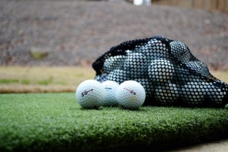 Real Feel Golf Mat and Bridgestone practice balls